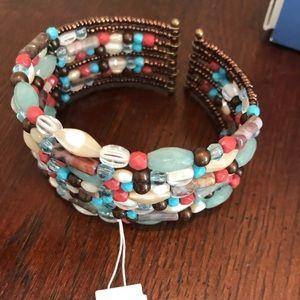 Lia Sophia beaded cuff bracelet - NewWithTags